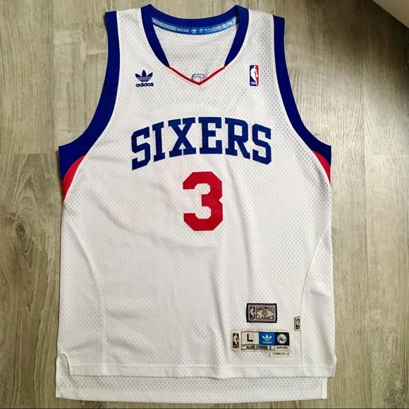 61a4a81e adidas Shirts   Allen Iverson Philadelphia 76ers Nba Jersey   Poshmark